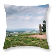 Four Standing Stones On The Clent Hills Throw Pillow