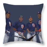 Four Tops Throw Pillow