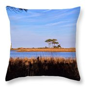 Four Trees H Throw Pillow