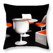 Four Tulip Chairs Throw Pillow