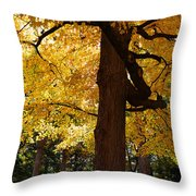 Four Yellow Trees  Throw Pillow