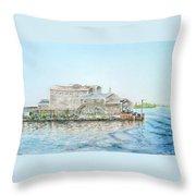 Fournier's Marine Throw Pillow