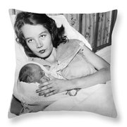 Fourteen Year Old Mother Throw Pillow