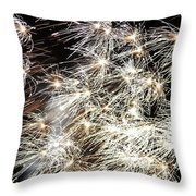 Fourth Of July Fireworks Throw Pillow by Kim Bemis