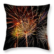 Fourth Of July Fireworks  Throw Pillow by Saija  Lehtonen