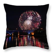 Fourth Of July In Cleveland Throw Pillow