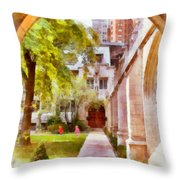 Fourth Presbyterian - A Chicago Sanctuary Throw Pillow by Christine Till