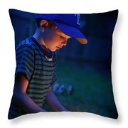 Fourth With A Sparkler Throw Pillow
