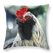 Fowl Martyr Throw Pillow