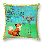 Fox-a Throw Pillow
