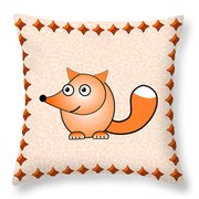 Fox - Animals - Art For Kids Throw Pillow