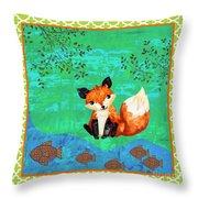 Fox-c Throw Pillow