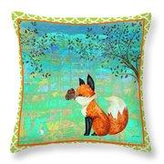 Fox-d Throw Pillow