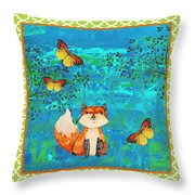 Fox-e Throw Pillow