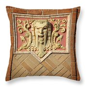 Fox Gargoyle 02 Throw Pillow