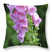 Fox Glove In Bloom Throw Pillow