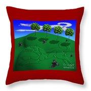 Fox Mound Throw Pillow by Keith Dillon