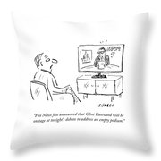 Fox News Just Announced That Clint Eastwood Throw Pillow