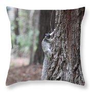 Fox Squirrel Vertical Throw Pillow
