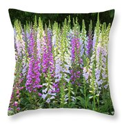 Foxglove Garden In Golden Gate Park Throw Pillow