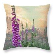 Foxglove In Washington State Throw Pillow