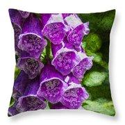 Foxgloves Textured Throw Pillow