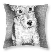 Foxterrier Throw Pillow