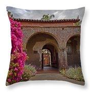 Fr. Serra Church Entrance Throw Pillow