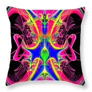 Fractal 15 Color Cacophony  Throw Pillow
