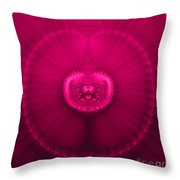 Fractal 20 Jeweled Medallion  Throw Pillow