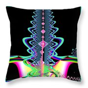Fractal 21 Jeweled Plume Throw Pillow
