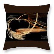 Fractal 24 Es Heart Throw Pillow