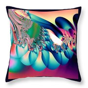 Fractal Abstract 001 Throw Pillow