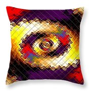 Fractal Abstract Creations Catus 1 No 1 H  Throw Pillow