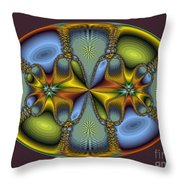 Fractal Art Egg Throw Pillow