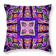 Fractal Ascension Throw Pillow by Derek Gedney