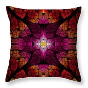 Fractal - Aztec - The All Seeing Eye Throw Pillow