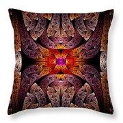 Fractal - Aztec - The Aztecs Throw Pillow