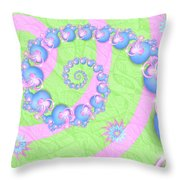 Fractal Baby Toys Throw Pillow