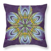 Fractal Blossom Throw Pillow by Derek Gedney
