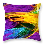 Fractal - Butterfly Wing Closeup Throw Pillow