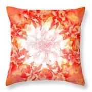 Fractal Carnation Throw Pillow