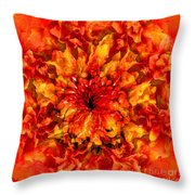 Fractal Chrysanthemum Throw Pillow