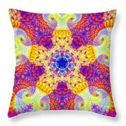 Fractal Corridors Throw Pillow
