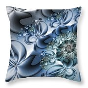Fractal Dancing The Blues Throw Pillow