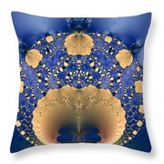 Fractal Doily Throw Pillow