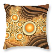 Fractal Eggs In The Depth Throw Pillow