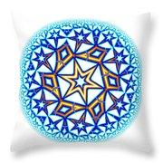 Fractal Escheresque Winter Mandala 1 Throw Pillow
