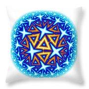 Fractal Escheresque Winter Mandala 10 Throw Pillow