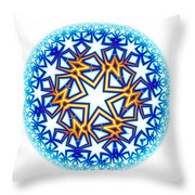 Fractal Escheresque Winter Mandala 2 Throw Pillow